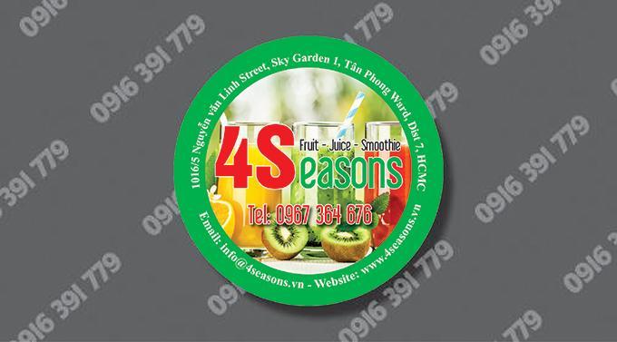 Một số mẫu thiết kế và in sticker, logo, decal trà sữa, đồ ăn vặt