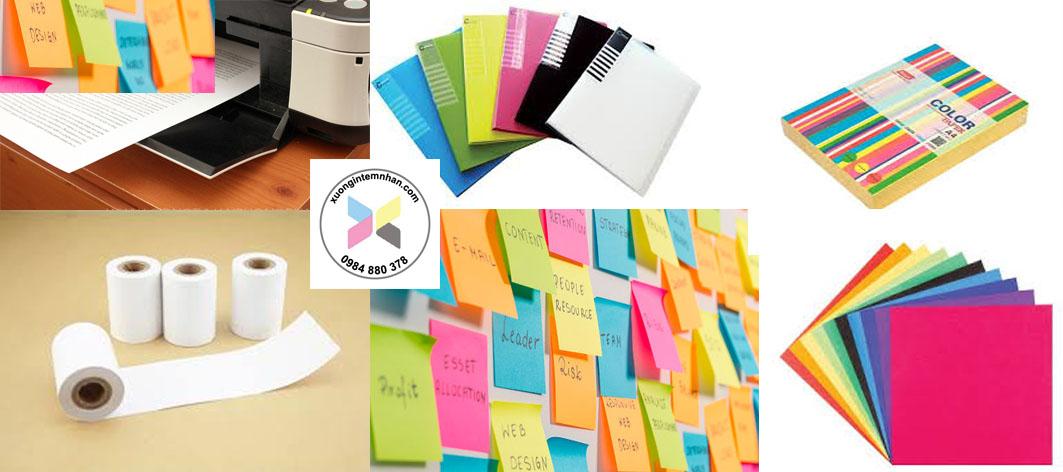 các loại giấy trong ngành in
